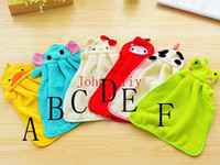 Wholesale Plush Bath Towels - Wholesale hot Lovely Cartoon Animal Hand Dry Towel Nursery Hand Towel Soft Plush Fabric Wipe Hanging Bathing Towel for Kid use