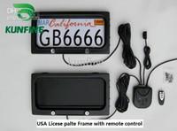 quadros de placas de matrícula venda por atacado-Frete grátis ! Frame da matrícula do carro dos EUA com privac da placa de tampa do quadro da licença do carro do controle remoto