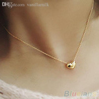 Wholesale Wholesale Fashion Bib Necklace - Wholesale-Women's fashion Jewelry Gold Plated Heart Bib Statement Chain Pendants Necklace 1P2I