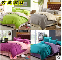 Wholesale Cheap Comforter Sets Full Size - Wholesale-Cheap Bedding Sets Mixed 2 Solid Color Comforter Bedding Sets Candy Color Duvet Cover Sets King Queen Full Size Free Shipping