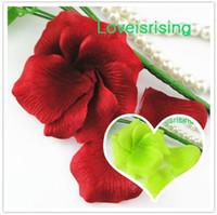Wholesale rose petals online - 5 packs Crimson Red Non Woven Fabric Artificial Rose Flower Petal For Wedding Party Favor Decor