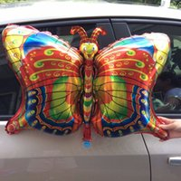 Wholesale Wholesale Butterfly Balloons - New insect foil balloon butterfly happy birthday party balloons decorated air balloons globos children inflatable Classic Toys