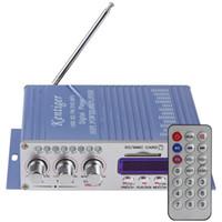 Wholesale Car Amplifier Wholesale - 2pcs lot HY502 USB   MP3   DVD   CD   FM   SD Sound Mode Digital Display Hi-Fi Car Stereo Power Amplifier CEC_813