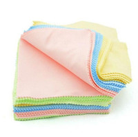 Wholesale Microfiber Camera Lens Cleaning Cloth - 100Pcs lot Microfiber Phone Screen Camera Lens Glasses Square Cleaner Cleaning Cloth 13cm*13cm