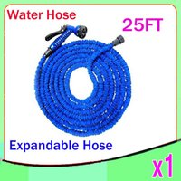 Wholesale Expandable Flexible Water 25ft - High Quality NEW Retractable Garden Hose Water Pipe Magic Hose Expandable and Flexible Hose 25FT 1pcs ZY-SG-04