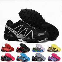 Wholesale Outdoor Lighted Cross - Wholesale 2017 High Quality Zapatillas Speedcross 3 4 Running Shoes Men Walking Outdoor Sport Speed cross 3 Jogging Shoes Sneaker Size 40-46