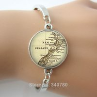 Bohemian spring maps - New Zealand map bangles New Zealand map pendant jewelry gift for him her bracelets silver and rhodium plated bangles pc free