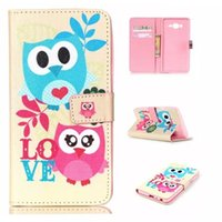 Wholesale Cartoon Leather Cover Case - For Samsung On5 On7 J1 Ace J2 LG Nexus 5 5X Angler H79 Cartoon Flower Flip Wallet Leather Pouch Case Teddy Butterfly Anchor Owl TPU Cover