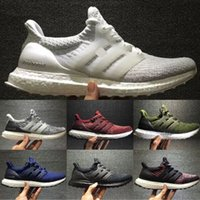 Wholesale Running Gifts - Best Christmas Gifts Ultraboost 3.0 Running Shoes Men Women High Quality Ultra Boost 3 III Primeknit Runs White Black Athletic Shoes