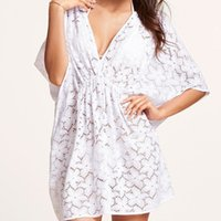 Wholesale Order Chiffon Blouse - Vestidos Summer Style 2015 European And American Hot Sexy V-neck Women Dress Lace Bikini Blouse Outside The Ride Mini Dresses order<$18no tr