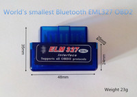 Wholesale Obd2 Connectors - super mini ELM327 Bluetooth OBD2 v2.1 support all obdii smartphone and PC, MINI ELM 327 BLUETOOTH three colors