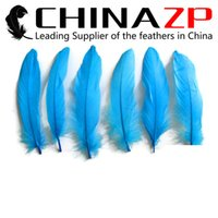Wholesale Christmas Goose - Exporting from Leading Supplier CHINAZP Crafts Factory 10~15cm(4~6inch) Natural Turquoise Blue Goose Feathers for Christmas Decorations