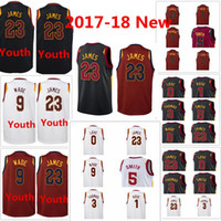 2017-18 neue Männer CLEVELAND 1 Derrick Rose 23 LeBron James 3 Jesaja Thomas 0 Kevin Love 5 Jr Smith Trikot CAVALIERS Swingman Trikots