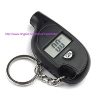 50pcs Mini Keychain LCD Digital Screen Pneu Pneu Air Pressure Gauge Tester Key Ring pour Auto Car 5-150PSI Bike Motorcycle