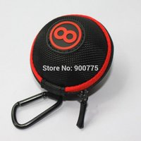 Atacado - EVA Ballerard Ball case -Clip on -Diameter-70mm Portable Pool e Snooker Cue Ball bag Acessórios de bilhar