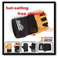 Wholesale Boxing Gloves Weight - Men Shipping Box Ruler Schiek Male Wrist Support Weight Lifting Gloves Sports Fitness Glove 2014 hot sale new arrival Wholesale