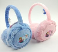 Wholesale Winter Accessories Ear Muffs - Frozen fever ear muffs Elsa Anna princess earmuffs girls winter ears headbands baby fashion cartoon head wear kids warmer ear caps accessory