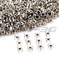 """Wholesale Nailhead Spots Wholesaler - Wholesale-500 x Silver Round Studs Spots Punk Nailhead Spikes for Bag Shoes Bracelet 0.16"""""""