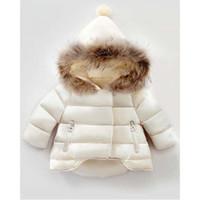 Wholesale Girls Winter Coat Size 12 - Winter New Baby Kids Girls Long Sleeve Fur Hoodie Hooded Jacket Coat Outerwear 3 Colour 6 Size