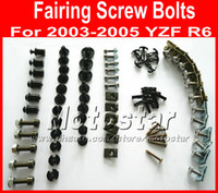 Wholesale Motorcycles For Cheap - New cheap Motorcycle Fairing screw bolts set for YAMAHA 2003 2004 2005 YZFR6 YZF R6 03 04 05 black fairings aftermarket bolt screws parts