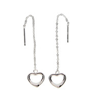 Wholesale Real Gold Jewelry Earing - Top selling Simple heart shape Ear Line Rose Gold Color drop Earings Jewelry Made in china real 925 silver girl women glossy earing 2017
