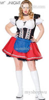 Wholesale Cheap Maid Costumes - Wholesale-Cheap New French Maid Women Sexy Costumes Mini Fancy Dress Sexy Beer Girl Oktoberfest Costume Cosplay Size S M L XL