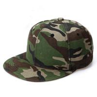 Wholesale Camouflage Outdoor Hats - Wholesale-camouflage snapback cap gorras planas hiphop baseball hat summer outdoor sports Hat touca raider cap men women adult unisex B441