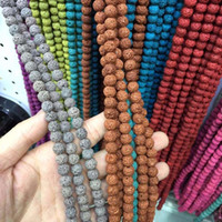 """Wholesale Plastic Rocks - wholesale 8 mm Natural Multicolor Volcanic Lava rock Stone Round Beads 15.5"""" Pick Size Free Shipping Jewelry making"""