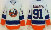 Islanders # 91 John Nome Tavares Branco Throwback Hockey Jerseys barato Ice Hocky Jersey Número bordado Mens Hockey veste presentes Christams