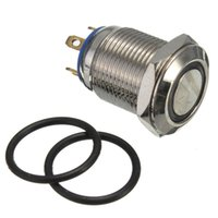 Wholesale Off Momentary - 12mm Momentary Metal Push Button Switch WaterProof Flat car Boat order<$18no track