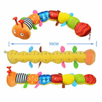 Hot New Baby Toy Musical Caterpillar Rattle avec Ring Bell Cute Cartoon Animal Plush Doll Early Educational
