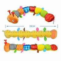 Quente New Baby Toy Musical Caterpillar Rattle com Ring Bell Bonito Cartoon Animal Peluche Boneca Early Educational