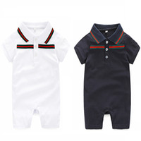 Wholesale Newborn Jumpsuits - 0-24 monthsBaby Rompers Newborn Baby Boy Girls Clothes Short Sleeve Baby Clothing Girl Infantil Body Jumpsuit