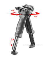 Wholesale T Swivel - Unmarking T-POD G2 Rotating T Vertical Foregrip w Incorported Swivel Bipod Black fit for FAB Defense