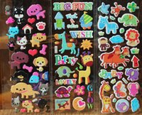 Wholesale Giraffe Girls - Animal stickers for kids kawaii animal stickers cat dog horse giraffe... zoo kids stickers puffy sticker kids rewards party supply