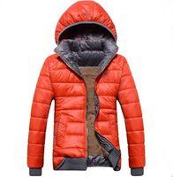 casaco novo modelo venda por atacado-Atacado- novos modelos femininos esporte casaco além de veludo jaqueta de inverno das mulheres quente com capuz jaqueta com capuz Removível wd8162
