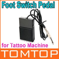 Wholesale Dropshipping Tattoo Supplies - 3 pcs  lot , Tattoo Machine Foot Switch Pedal for Power Supply Black , Free Shipping Dropshipping
