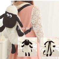 Wholesale Shaun Backpack - Wholesale-Cute 40cm*27cm Shaun Sheep Plush Backpack,Children Knapsack,1pcs pack