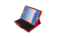 Wholesale pink keyboard case for ipad - Wireless Bluetooth keyboard with Leather cover case holster together with for ipad air2