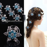 Wholesale Snowflake Crystal Hair Accessories - 100pcs Brand New Frozen direct bridal & Kids hair accessories plate snowflake diamond jubilee clip Frozen Hair Hot Sale