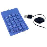 Wholesale Silicone Numeric Keypad - Wholesale-Brazil Financial special 18 keys numeric keypad keyboard silicone keypad USB retractable cable VORICE