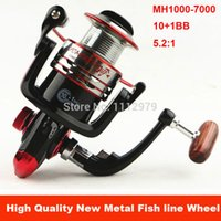 Wholesale Spinning Reel Painting - New MH1000-7000 11BB Saltwater Fighter Fishing Spinning Reel With Metal Spool Good Painting Retrieval Ratio 5.2: 1 For Fishing