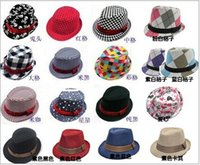 Wholesale Infant Baby Modeling - Fashion Printed Casual Hats Children Caps Kids Handsome Boys Fedora Hat Baby Infant Modeling New Arrival Hat Child Top Hats