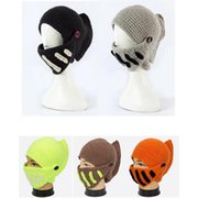 Wholesale Roman Winter Hat - Hats Winter Thick Wool Hat Roman Knight Cap Hats Keeping Warm Knitted Cap Beanie Skull Caps 20pcs