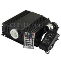 Wholesale Engine Controller - Wholesale-DMX 45W RGB LED Fiber Optic Engine Driver+28key RF Remote controller for all kinds fiber optics