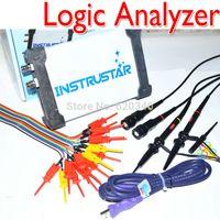 Wholesale Usb Logic Analyzer Oscilloscope - Freeshipping Upgrade version MDSO-LA PC USB Analog Virtual oscilloscope 16 Channel Logic Analyzer Bandwidth 20M Circuit analysis order<$18no