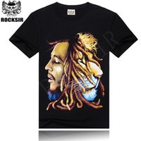 Wholesale Wholesale Bob Marley T Shirts - Wholesale-2016 High Quality BOB MARLEY t shirts Trend Print Custom REGGEA Design For Man Tees Vintage Rock T-shirts Long For Freedom