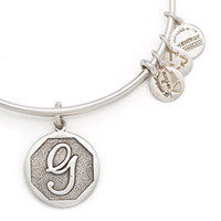 Wholesale First Bangles - First initials G Original alex and ani Charm bangle Antique gold silver Expandable Wire copper man and women Meaning bracelet friend gifts