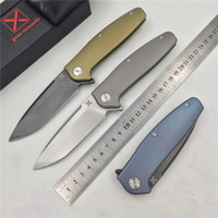 Wholesale vg pocket - Free shipping,YX-750 original free shipping blasting non-slip gray titanium handle knife VG-10 hunting outdoor survival pocket knife EDC