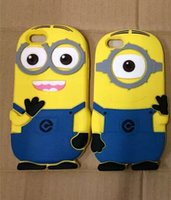 Wholesale Case Galaxy Note Minions - 2016 NEW 3D Minions For Samsung Galaxy NOTE 5 NOTE5 S6 EDGE PLUS A3 A5 A7 A8 A9 Soft Silicone Gel Phone Case Smile Cute Cartoon Skin Luxury